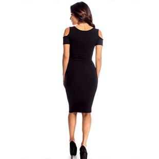Vestido Midi Recorte no Ombro REF: V0058