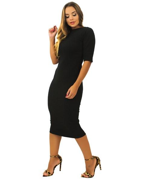 Vestido Midi Tubinho Fenda Atrás REF: TCP24