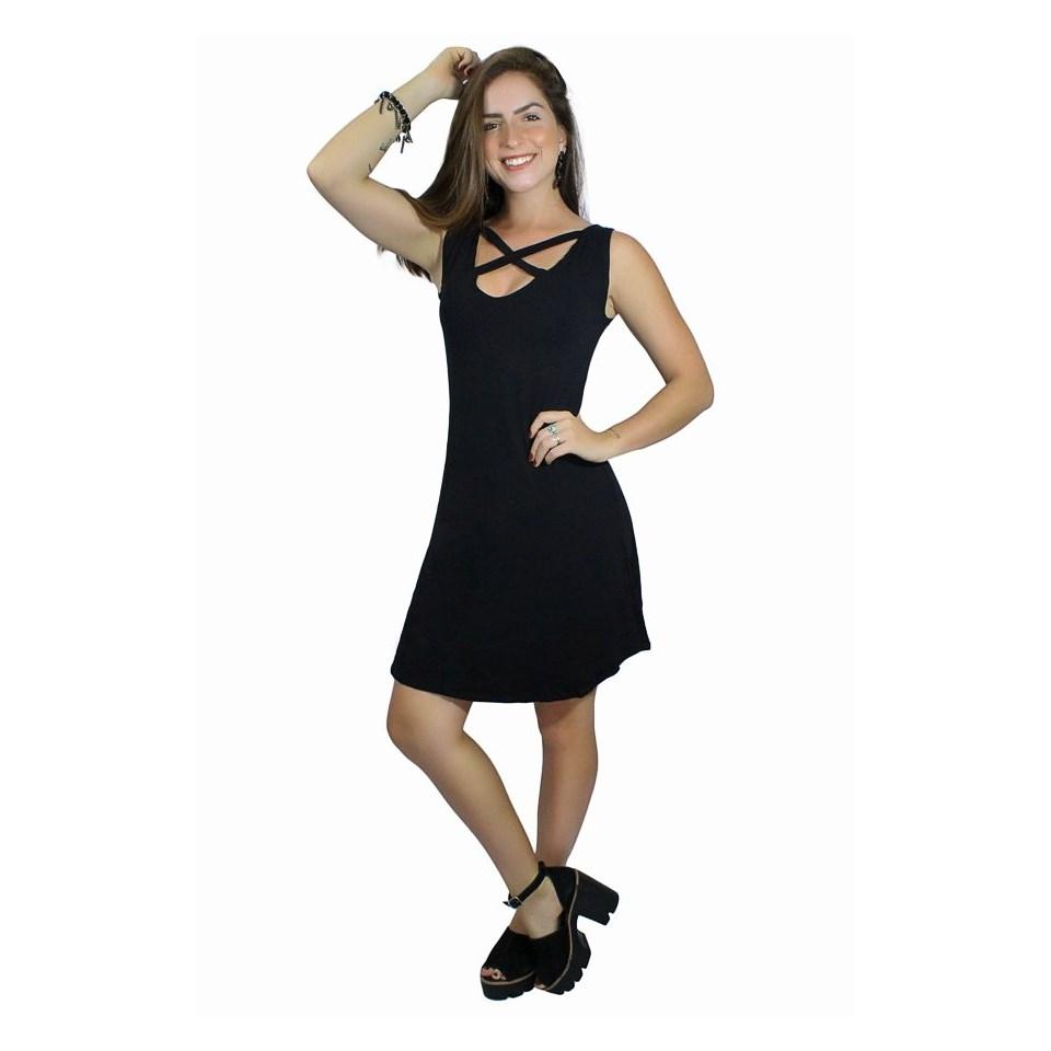 Vestido Social Godê Deco em X REF: V00208