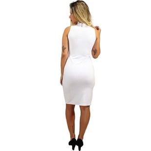 Vestido Social Gola Alta Midi REF: OUT-V60