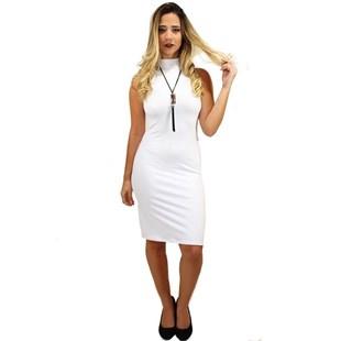 Vestido Social Gola Alta Midi REF: V0060