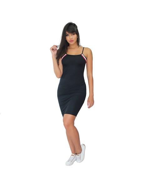 Vestido Tubinho Alcinha Detalhe Canelado REF: VRP351