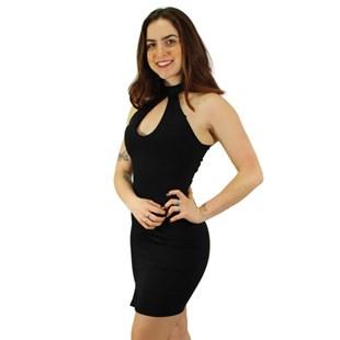 Vestido Tubinho com Fenda e Decote em Gota REF: V00184